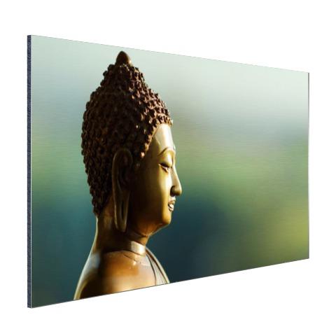 Boeddha beeld fotoprint Aluminium