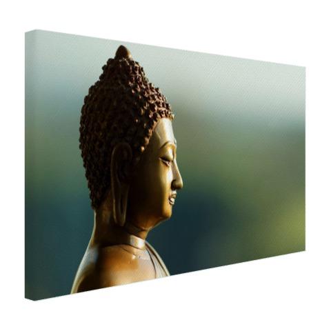 Boeddha beeld fotoprint Canvas