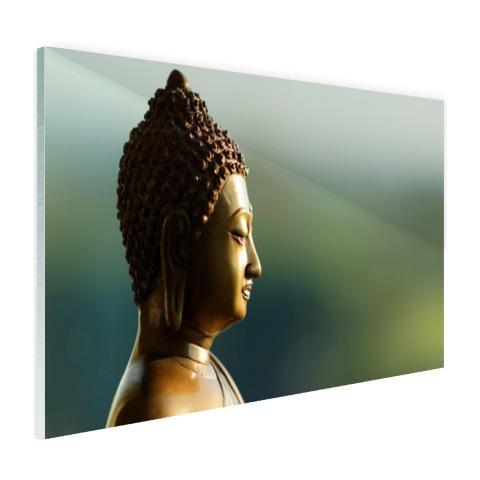 Boeddha beeld fotoprint Glas