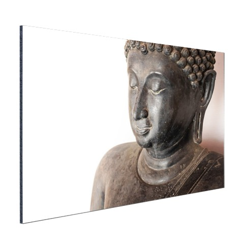 Boeddha hoofd van steen Aluminium