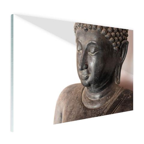Boeddha hoofd van steen Glas