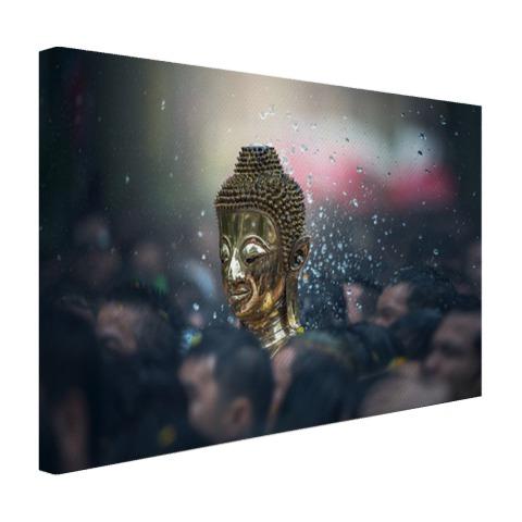 Boeddha in een Thaise tempel Canvas