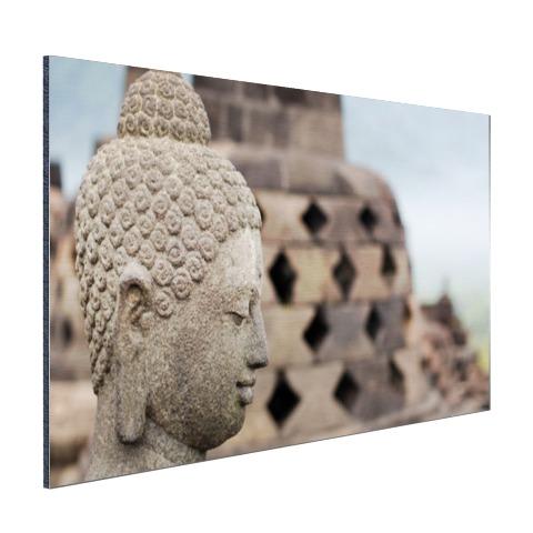 Boeddha standbeeld in Borobudur tempel Aluminium
