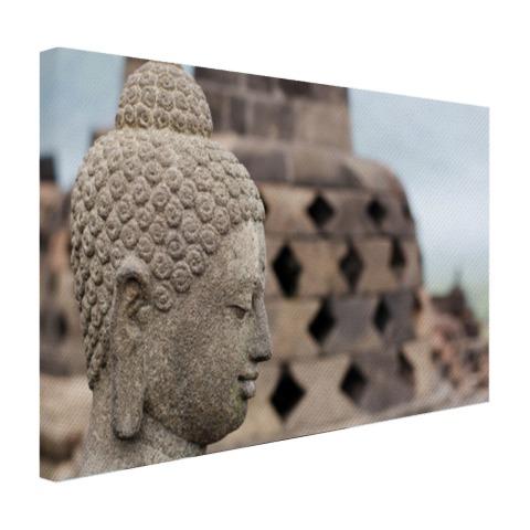 Boeddha standbeeld in Borobudur tempel Canvas