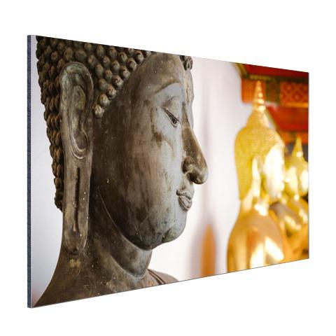 Boeddhahoofd in Wat Pho tempel Bangkok Aluminium