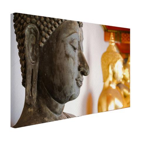 Boeddhahoofd in Wat Pho tempel Bangkok Canvas