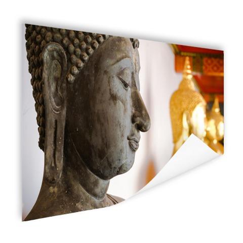 Boeddhahoofd in Wat Pho tempel Bangkok Poster