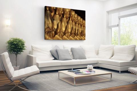 Buddhas op een rij Canvas