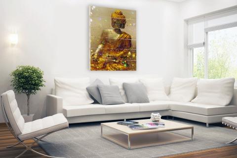 Glinsterende Boeddha Hout