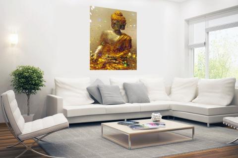Glinsterende Boeddha Poster