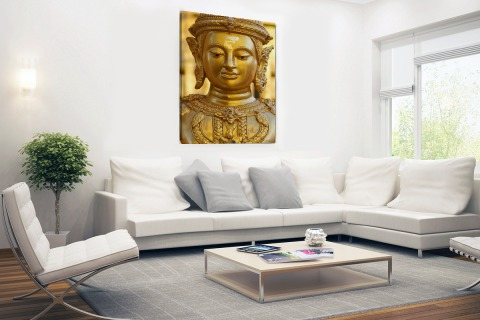Gouden Boeddha in Chiang Mai Thailand Canvas