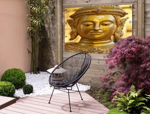 Gouden Boeddha in Chiang Mai Thailand Tuinposter