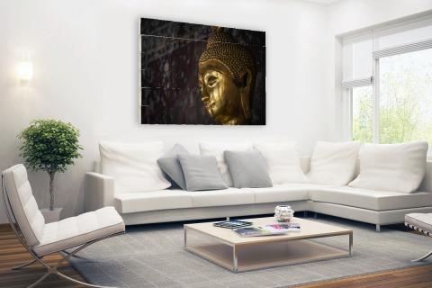 Gouden boeddha standbeeld Thailand Hout