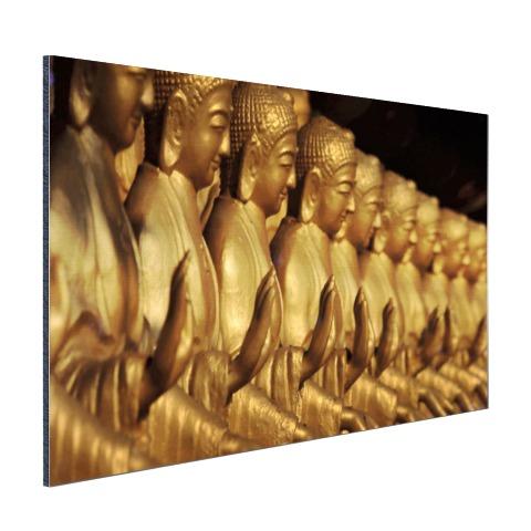 Buddhas op een rij Aluminium