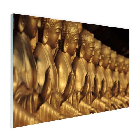Buddhas op een rij Glas
