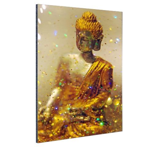 Glinsterende Boeddha Aluminium