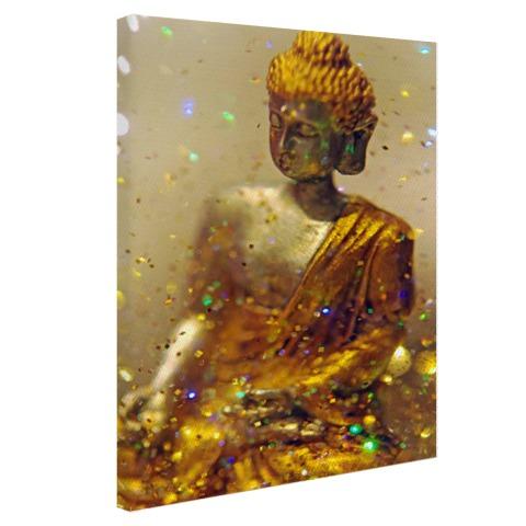 Glinsterende Boeddha Canvas