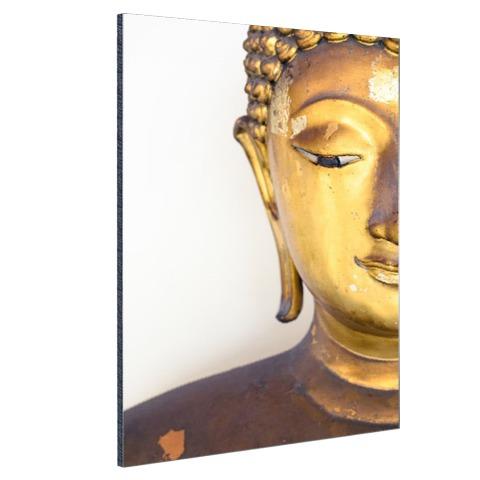 Gouden Boeddha hoofd Aluminium