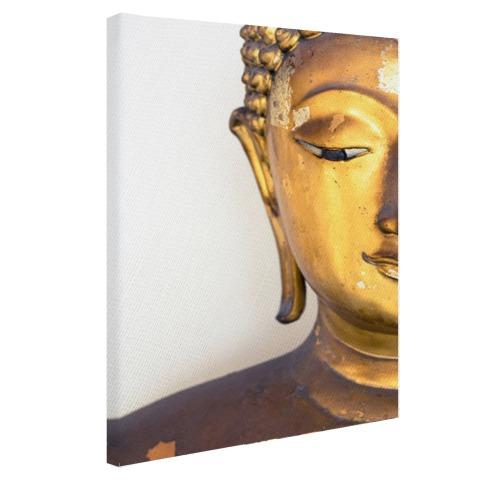 Gouden Boeddha hoofd Canvas