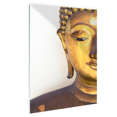 Gouden Boeddha hoofd Glas