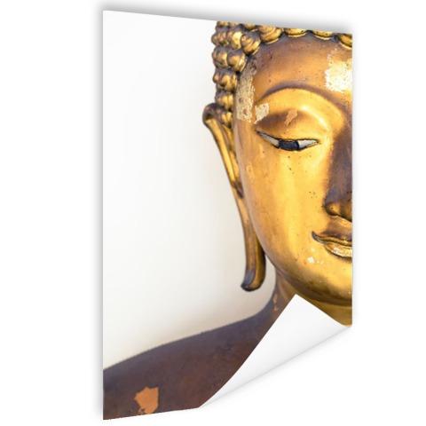 Gouden Boeddha hoofd Poster