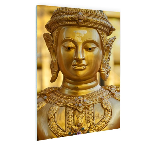 Gouden Boeddha in Chiang Mai Thailand Glas
