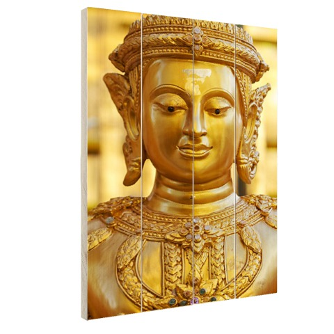 Gouden Boeddha in Chiang Mai Thailand Hout