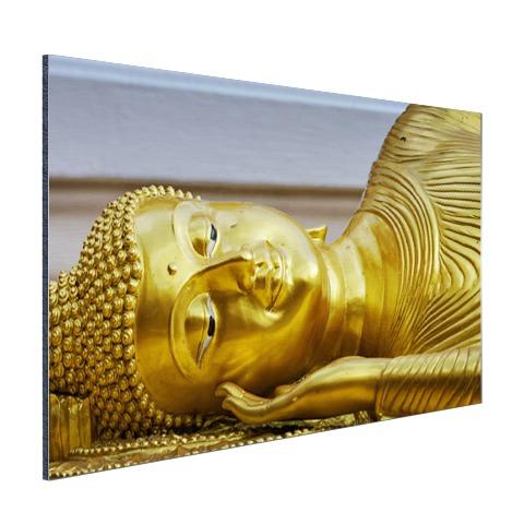 Liggende Boeddha van goud Aluminium