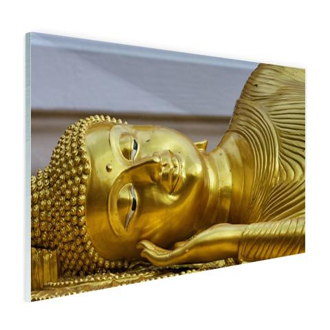 Liggende Boeddha van goud Glas