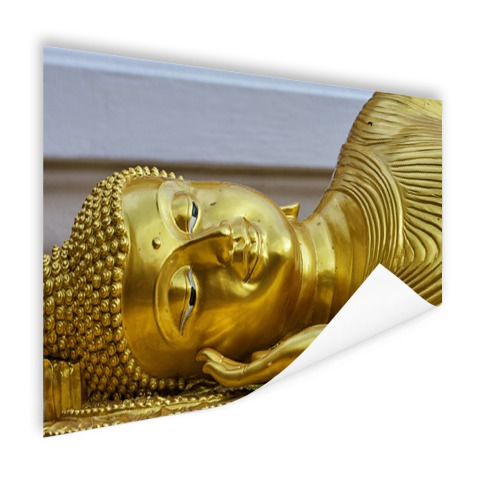 Liggende Boeddha van goud Poster