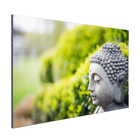 Standbeeld van Boeddha in een tuin Aluminium