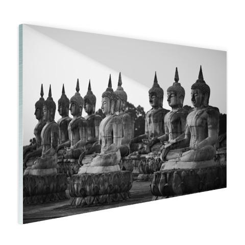 Zwart-wit foto van Boeddhas Glas