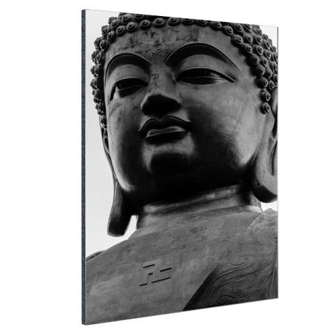 Zwart-wit van de Tian Tan Buddha Aluminium