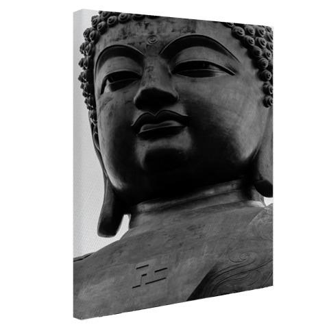 Zwart-wit van de Tian Tan Buddha Canvas