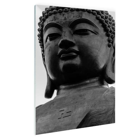 Zwart-wit van de Tian Tan Buddha Glas