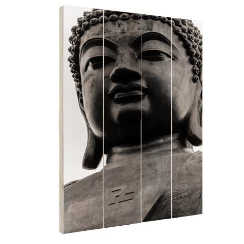 Zwart-wit van de Tian Tan Buddha Hout