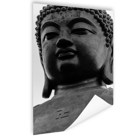 Zwart-wit van de Tian Tan Buddha Poster