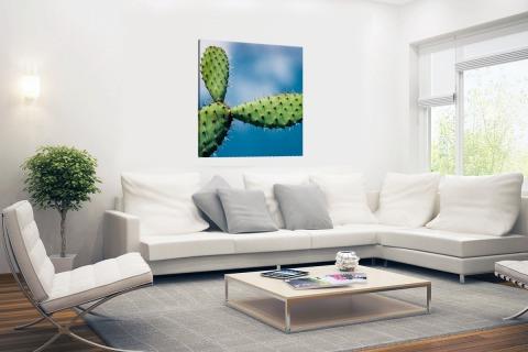 Cactus tegen blauwe lucht Canvas