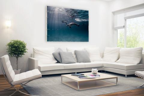 Onderwaterfoto van dolfijnen Hout