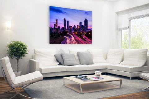 Atlanta skyline Glas