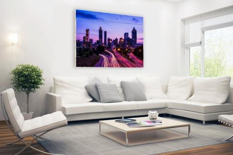 Atlanta skyline Hout