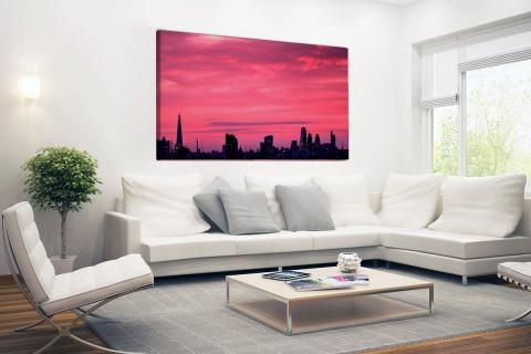 Londen skyline bij zonsondergang Canvas