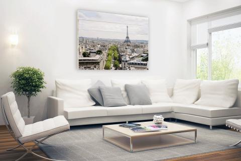 Parijs skyline Hout