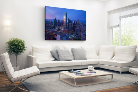 Skyline Dallas Canvas
