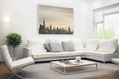 Skyline Manhattan Hout