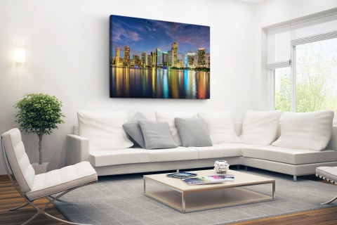 Skyline Miami Canvas