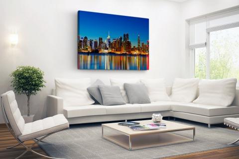 Skyline New York by night Canvas