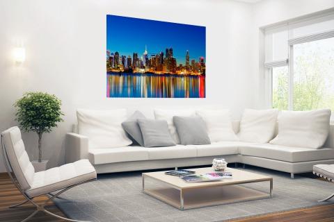 Skyline New York by night Poster