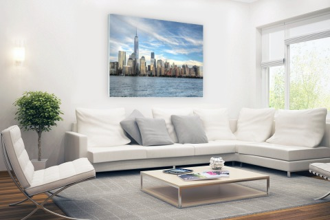 Skyline New York Glas
