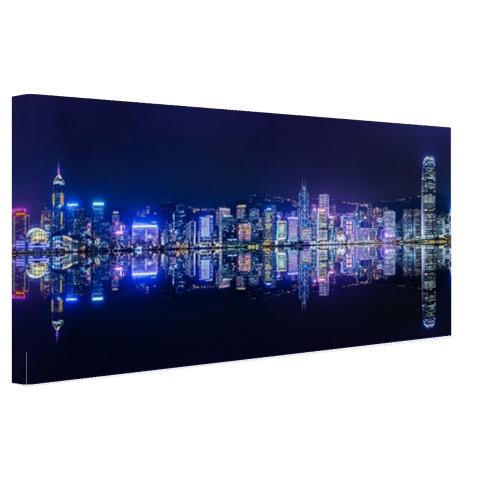 Hong Kong skyline muurdecoratie
